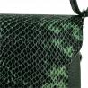 Torebka skórzana zielona ze wzorem wężowej skóry