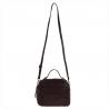 Elegancka torebka listonoszka kuferek bordowy z ćwiekami