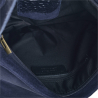 Nowy wzór zamszowa torebka listonoszka duża granatowa L