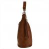 Lekk skórzana torebka shopper bag brązowa camel