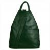 Zgrabny plecak skórzany zieleń butelkowa