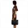 Duża skórzana torba pikowana czarna rozmiar XL