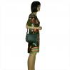 Elegancka torebka listonoszka kuferek zieleń butelkowa z ćwiekami