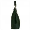 Lekk skórzana torebka shopper bag zieleń butelkowa
