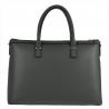 Czarna elegancka skórzana aktówko-torebka XL
