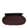Plecak skórzany pojemny A4 bordowy